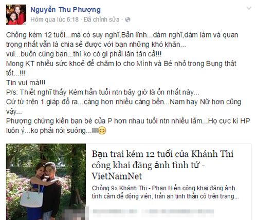 Facebook sao Việt 30/3: Xuân Lan lên tiếng ủng hộ chuyện tình của Khánh Thi 5
