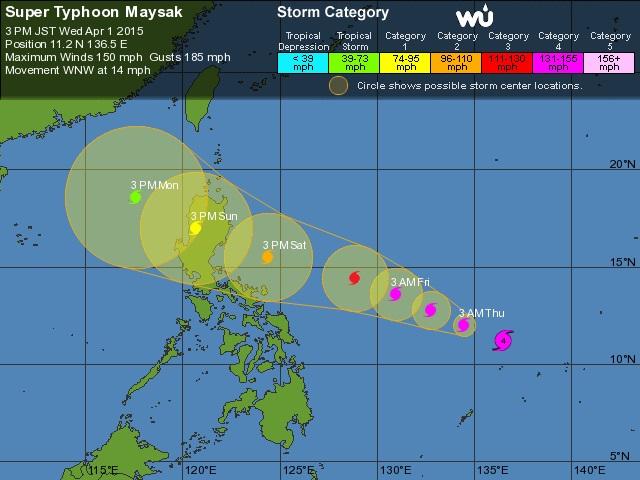 Siêu bão sắp đổ bộ Philippines, quân đội đặt trong tình trạng báo động 4