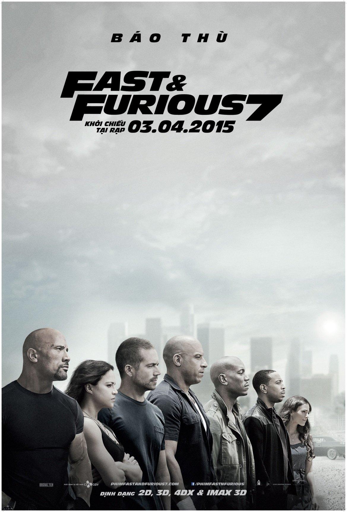 Fast & Furious 7 - bom tấn đầu tiên được chiếu bằng định dạng IMAX 3D 1