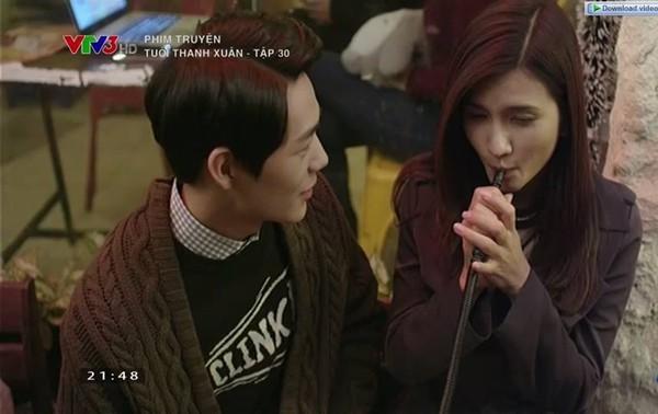Tuổi thanh xuân tập 30: Khán giả sốc trước cảnh Kim Tuyến hút shisha  1
