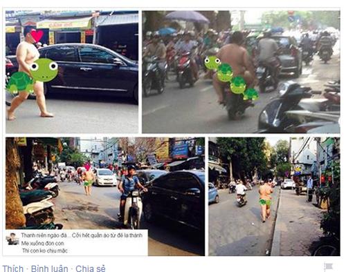 Thanh niên to béo như Sumo không mặc đồ đi trên phố Hà Nội giữa nắng nóng 1