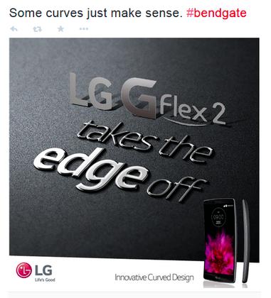 "Samsung Galaxy S6 Edge bị LG ""đá xoáy"" 1"