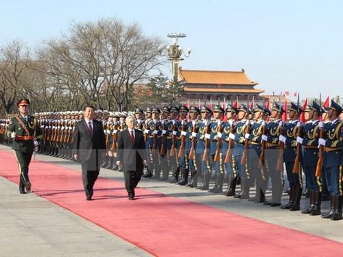 Tổng Bí thư Nguyễn Phú Trọng hội đàm với ông Tập Cận Bình 1