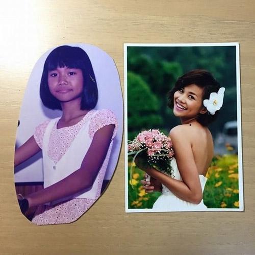 Facebook sao Việt 8/4: Thanh Hằng khoe ảnh thời thơ ấu đen nhẻm 1