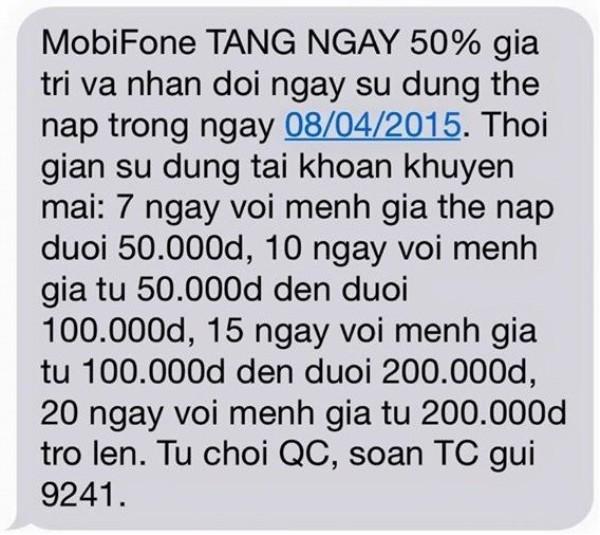 Sau Viettel, Mobifone cũng thực hiện giới hạn tài khoản khuyến mại 1