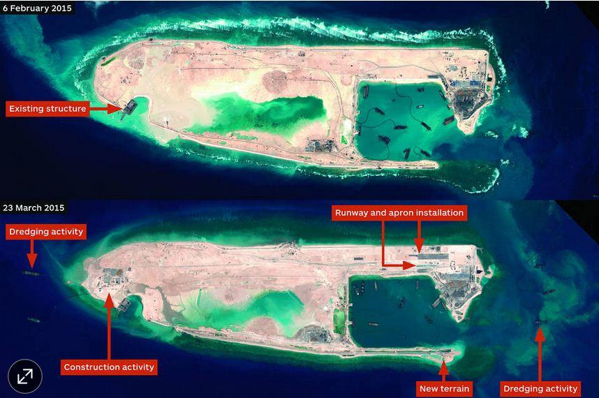 Hình ảnh Bằng chứng cho thấy Trung Quốc xây dựng đường băng ở Trường Sa số 1