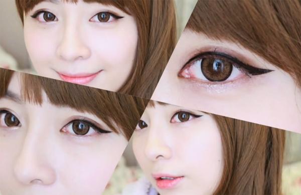 Làm đẹp với 4 cách kẻ mắt long lanh như sao Hàn 4