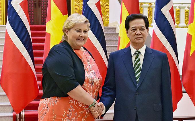 Thủ tướng Nguyễn Tấn Dũng hội đàm với Thủ tướng Na Uy 1