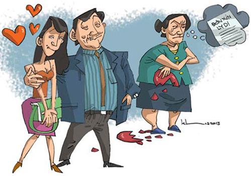 Bỏ mặc vợ chống chọi ung thư, chồng vui vẻ bên bồ nhí 1
