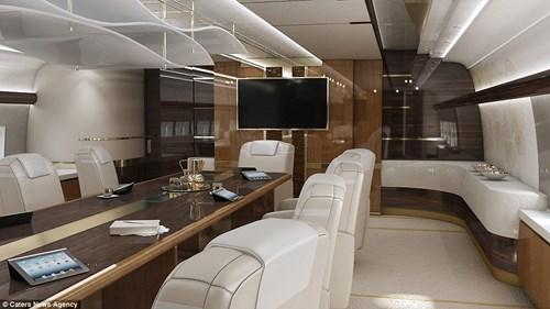 Bộ nội thất 13 nghìn tỉ trong máy bay riêng của đại gia bí ẩn 6