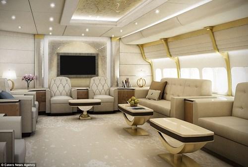 Bộ nội thất 13 nghìn tỉ trong máy bay riêng của đại gia bí ẩn 3