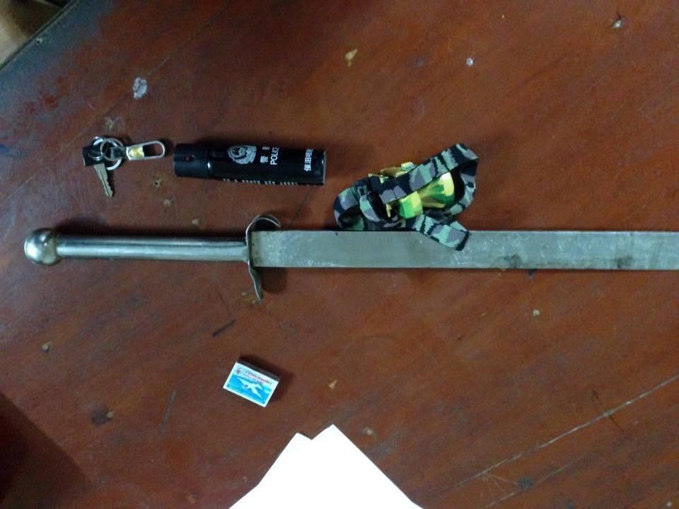 Trộm chó vung kiếm chống trả Cảnh sát khi bị truy đuổi 2