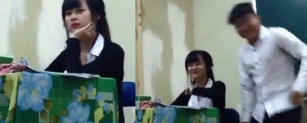 Xôn xao clip Cô giáo xinh như hot girl ở TP HCM bị nam sinh chọc ghẹo 1