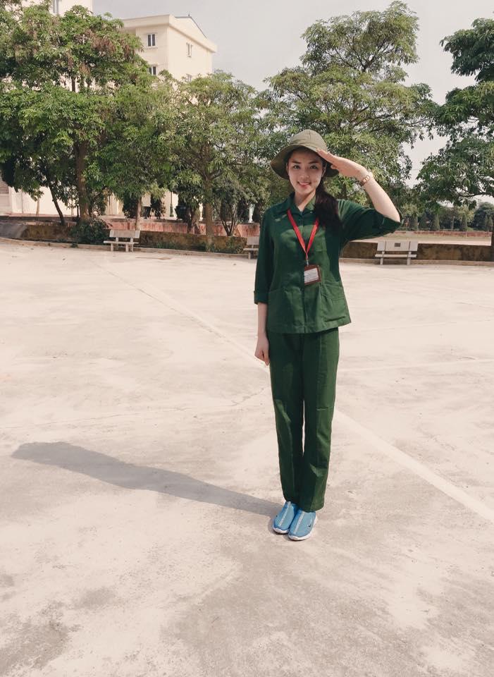 Ngắm Hoa hậu Kỳ Duyên trong màu áo lính cực yêu 2