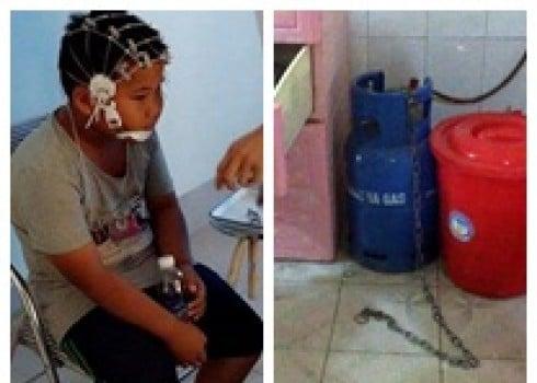 Bé trai 9 tuổi bị mẹ kế bạo hành ở Bắc Giang: 'Con lạy dì, dì tha cho con' 1