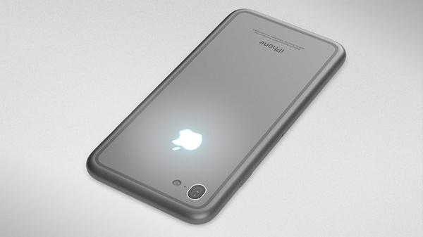 iPhone 7 với thiết kế nút home chìm và logo phát sáng 4