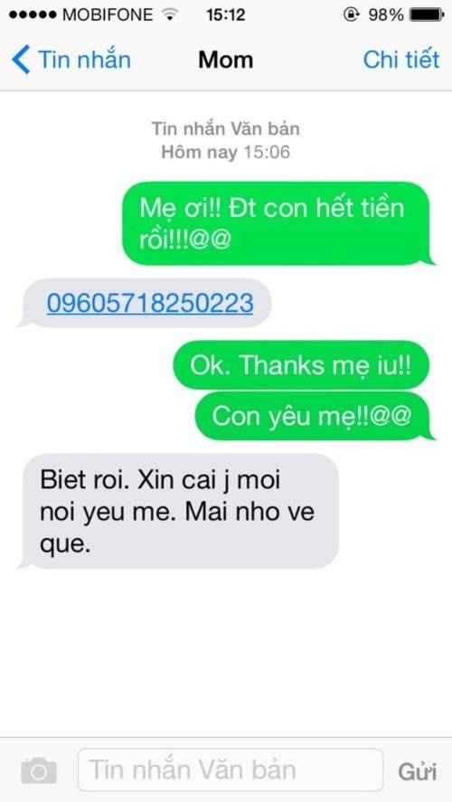 Ngày của mẹ và loạt tin nhắn