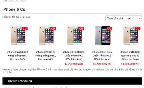 Mua iPhone 6 rẻ đang ồ ạt vào Việt Nam 'chắc chắn gặp nhiều rủi ro' 2