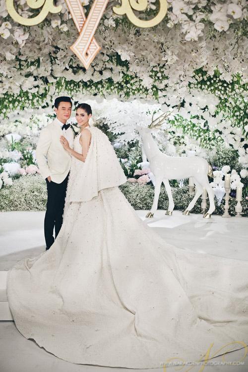 Cận cảnh đám cưới gần trăm tỷ của nữ diễn viên đẹp nhất Thái Lan 1