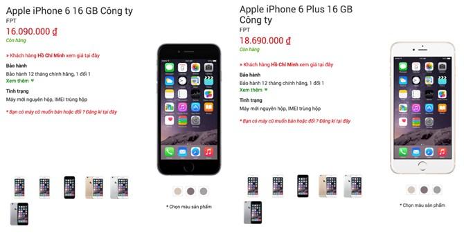 iPhone 6 chính hãng giảm giá lần hai hơn 1 triệu đồng 2