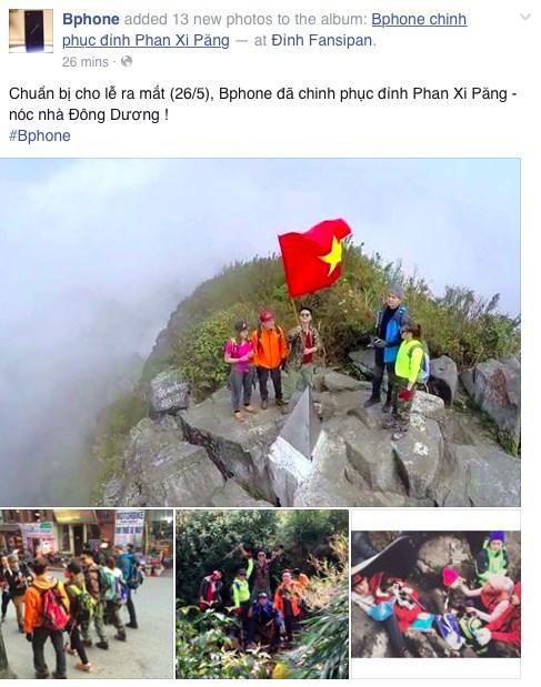 Hình ảnh Smartphone của Bkav leo đỉnh Fansipan? số 3