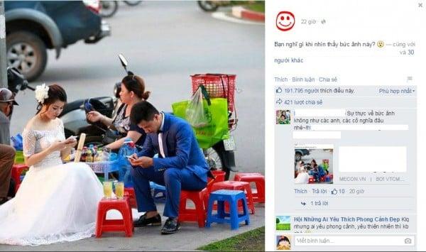 Hình ảnh Sự thật đằng sau bức ảnh cô dâu, chú rể thời smart phone số 2