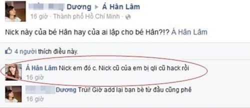 Hot girl Lâm Á Hân (BB & BG) bị quản lý cũ hack facebook? 2