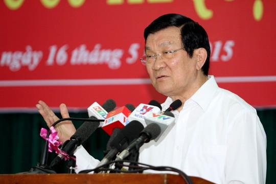 """Chủ tịch nước Trương Tấn Sang: Cán bộ """"đất và đôla"""