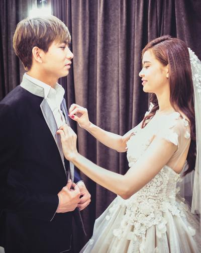 Tim đưa Trương Quỳnh Anh đi thử váy cưới 3