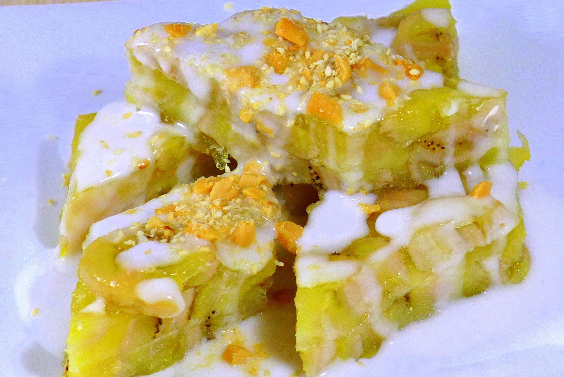Cách làm bánh chuối hấp cốt dừa thơm ngậy 1