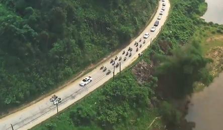 Video: Lác mắt với đoàn rước dâu toàn siêu xe ở Hà Tĩnh 2