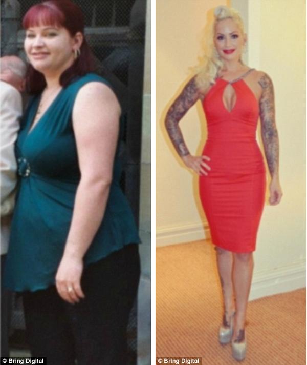 Người phụ nữ lột xác với thân hình quyến rũ sau khi giảm 40kg 1