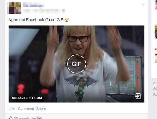 Facebook đã hỗ trợ hiển thị ảnh GIF động 1