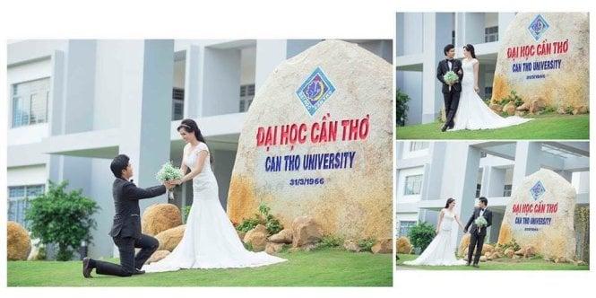 Chụp ảnh cưới ở trường học khiến sinh viên yêu sớm? 1