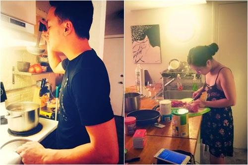 Facebook sao Việt: Hà Hồ giới thiệu DVD 2014, Hương Tràm vào bếp nấu ăn 3