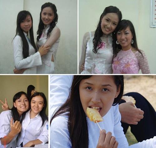 Hình ảnh Soi mặt mộc khi không son phấn của 4 hoa hậu Việt số 9