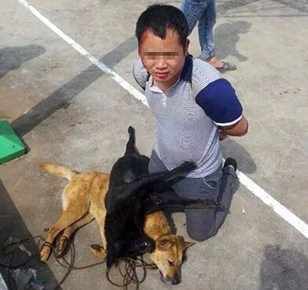 Trộm bị dân làng đánh đập, bắt đeo xác chó quanh cổ 3