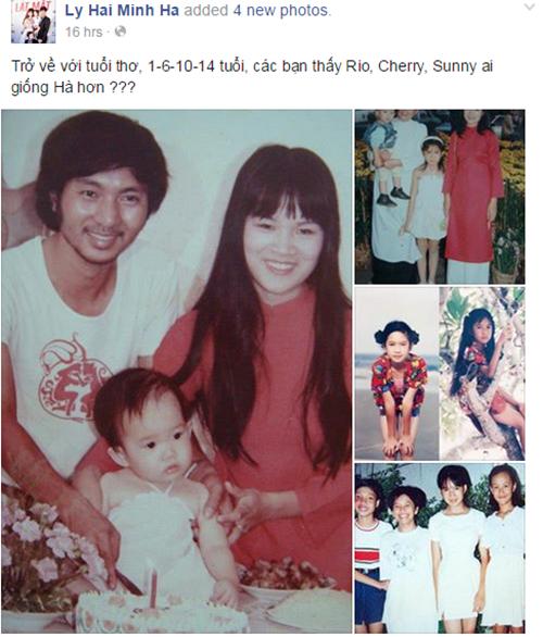 Bà xã Lý Hải tiết lộ ảnh hồi nhỏ cực xinh xắn 1