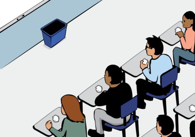 Giáo viên giúp học sinh hiểu 'đặc quyền con người' qua trò ném giấy 1