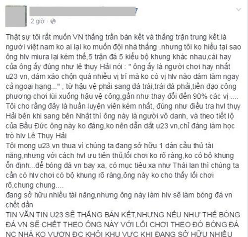 Facebook tràn ngập nỗi thất vọng của đội tuyển Việt Nam 1