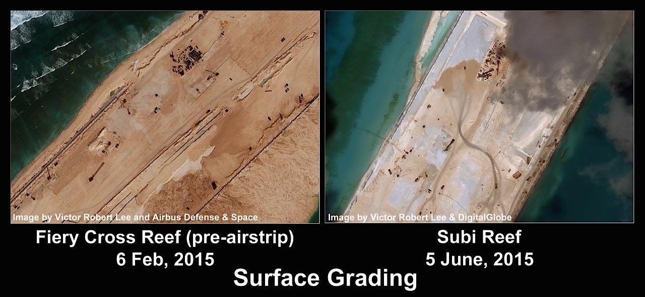 Biển Đông: Trung Quốc bồi đắp đá Subi được 74\% 2