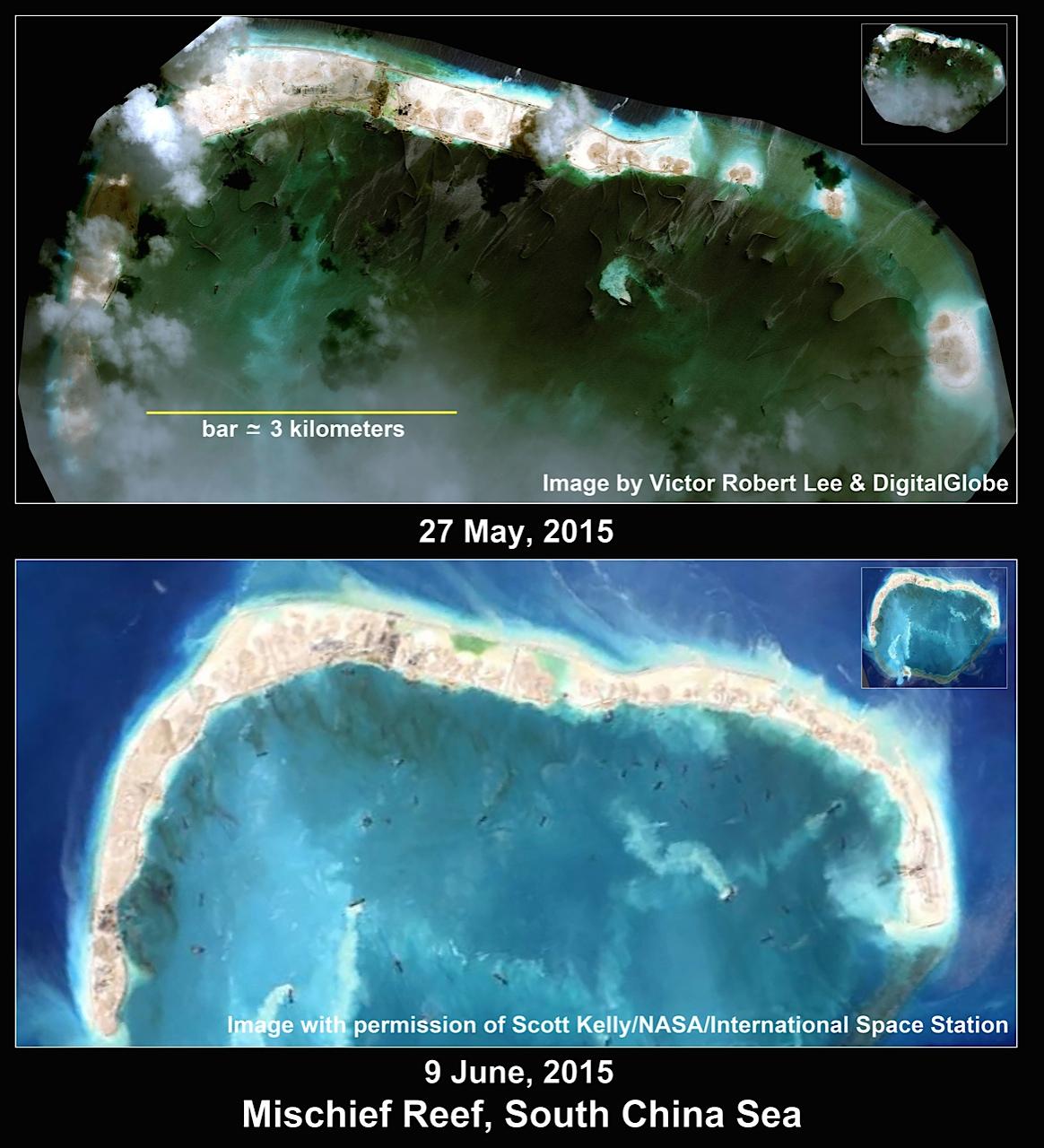 Biển Đông: Trung Quốc bồi đắp đá Subi được 74\% 3