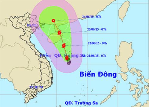 Áp thấp nhiệt đới mạnh lên thành bão giật cấp 8 ở biển Đông 1