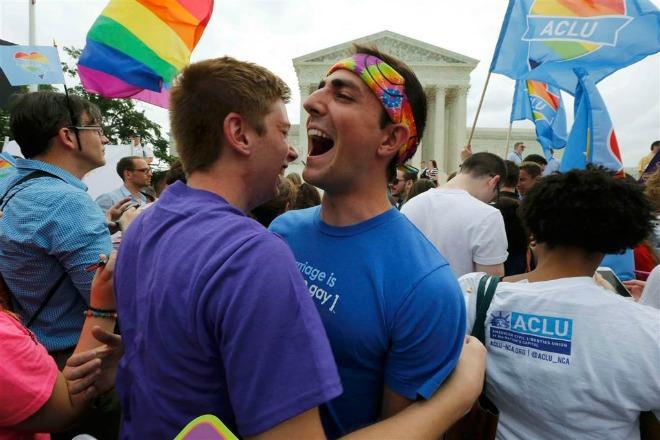 Hình ảnh Mỹ: Chính thức hợp pháp hóa hôn nhân đồng giới trên cả nước số 4