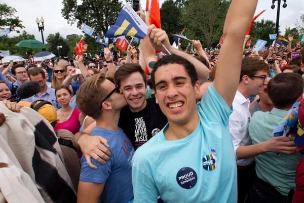 Hình ảnh Mỹ: Chính thức hợp pháp hóa hôn nhân đồng giới trên cả nước số 3