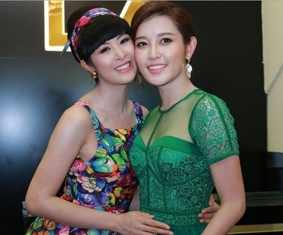 Hoa hậu Ngọc Hân đọ sắc bên Á hậu Huyền My 2