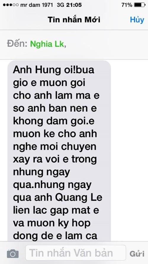Quang Lê lên tiếng xin lỗi Đàm Vĩnh Hưng 4
