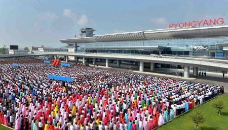 Cận cảnh nhà ga mới hào nhoáng nhưng đìu hiu của Triều Tiên 5