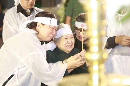 Ngồi xe lăn, vợ nhạc sĩ Phan Huỳnh Điểu đau đớn tiễn biệt chồng 1