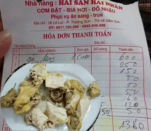 Nhà hàng Sầm Sơn: Tham tiền 2 bát cơm, nộp phạt 20 triệu đồng 1